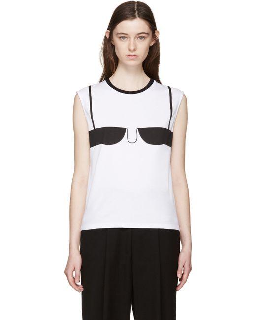 J w anderson white bra t shirt in white lyst for Dd t shirt bra
