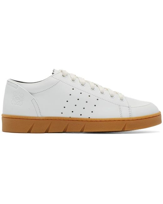 Loewe | White Leather Low-Top Sneakers | Lyst