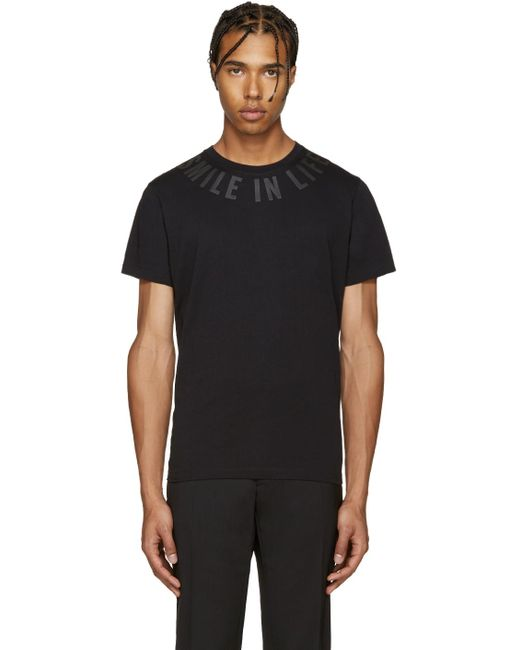 DIESEL | Black T-diego-fl 'smile In Life' T-shirt for Men | Lyst