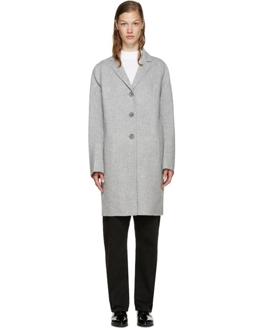Acne | Gray Rica Knitted Cardi-coat | Lyst