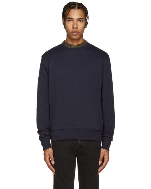 Acne | Blue Casey Pullover for Men | Lyst