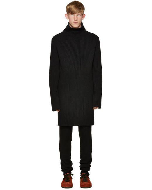 Ann Demeulemeester | Black Knit Turtleneck for Men | Lyst