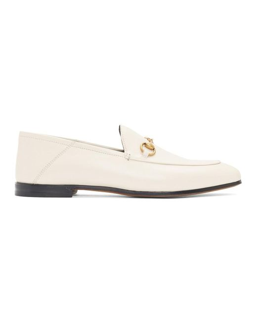 501b38bed Gucci White Horsebit Loafers in White - Lyst