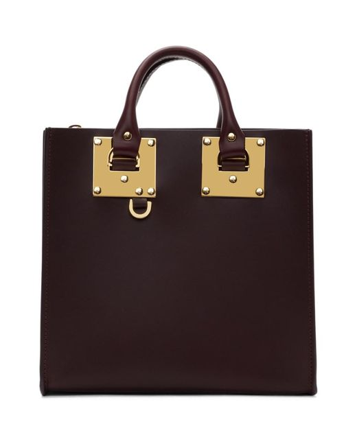 Sophie Hulme - Multicolor Burgundy Square Albion Tote - Lyst