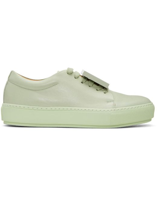 Acne   Green Adriana Turnup Sneakers   Lyst