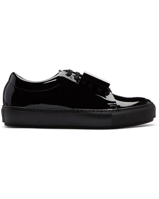 Acne | Black Patent Adriana Sneakers | Lyst