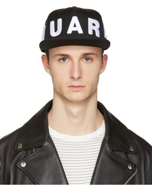 DSquared²   Black Embroidered Logo Cap for Men   Lyst