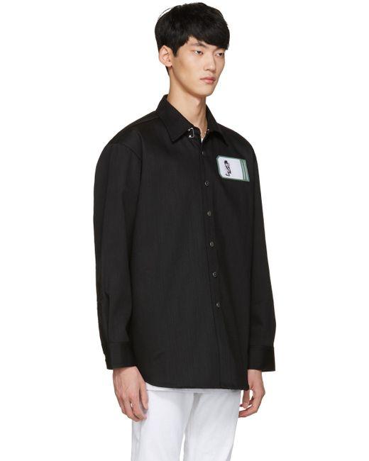 Raf simons black robert mapplethorpe edition self portrait for Raf simons robert mapplethorpe shirt