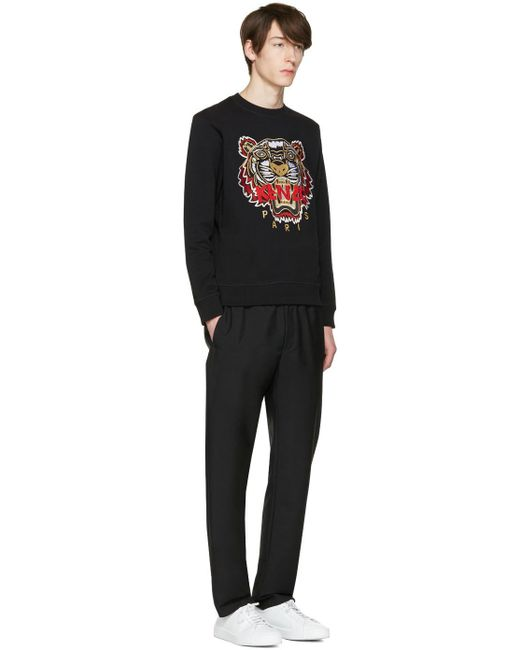Kenzo Black Chinese New Year Tiger Pullover In Black For