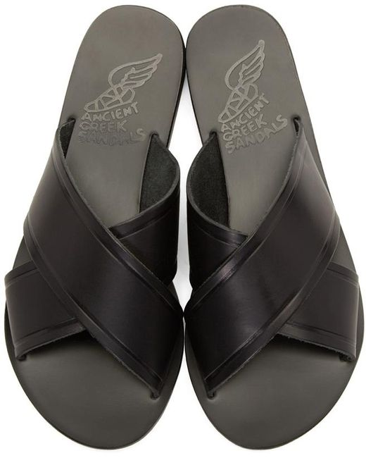 Ancient Greek Sandals   Black Thais Sandals   Lyst