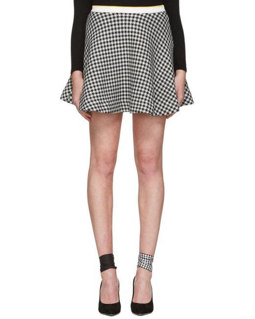 Miu Miu | Black & White Gingham Check Skirt | Lyst