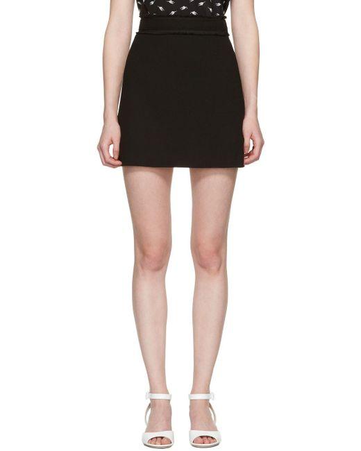 Miu Miu   Black Crepe Miniskirt   Lyst