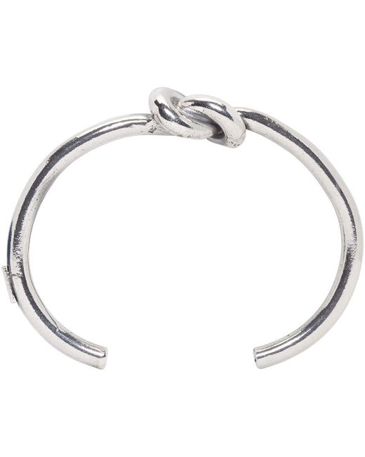Emanuele Bicocchi | Metallic Silver Knot Bracelet for Men | Lyst