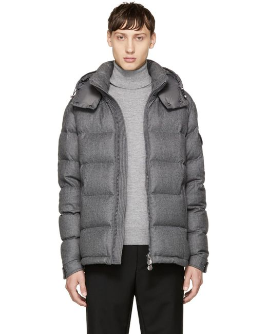 Moncler | Gray Grey Down Montgenevre Jacket for Men | Lyst