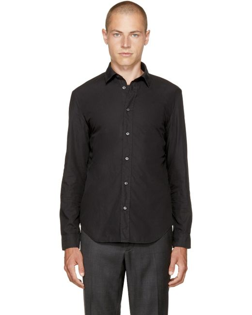 Maison Margiela | Black Poplin Shirt for Men | Lyst
