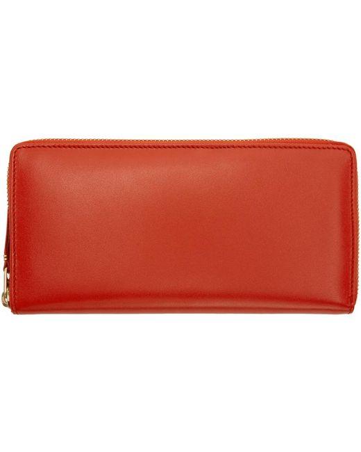 Comme des Garçons   Orange Classic Continental Zip Wallet   Lyst