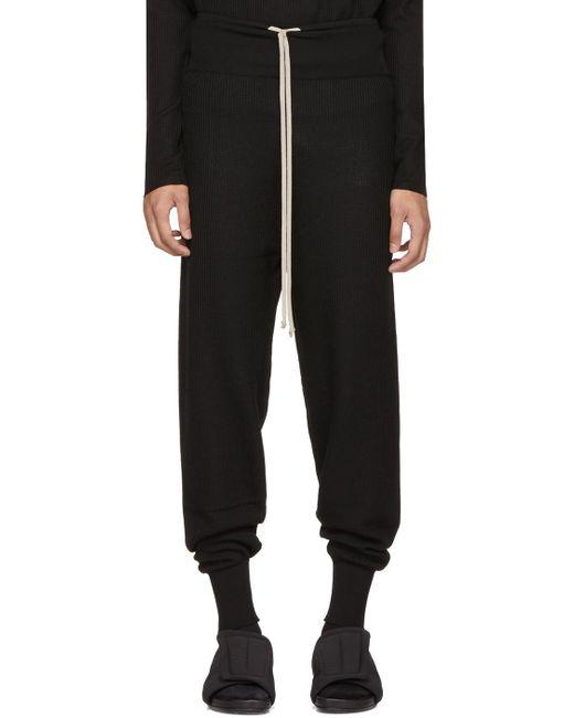 Rick Owens   Black Prisoner Drawstring Lounge Pants for Men   Lyst