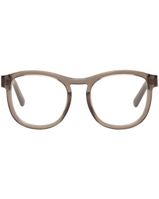 Chloé | Gray Grey Round Glasses | Lyst