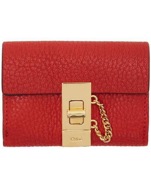Chloé   Red Mini Drew Wallet   Lyst