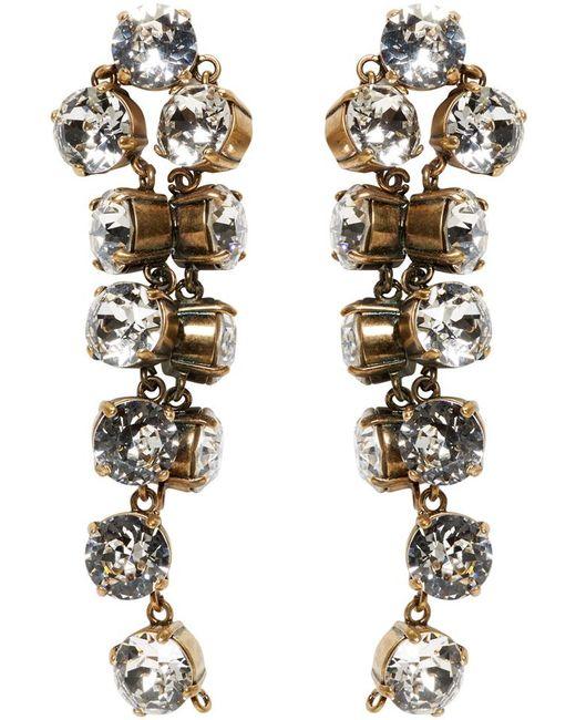 Balenciaga   Metallic Gold Twist Earrings   Lyst