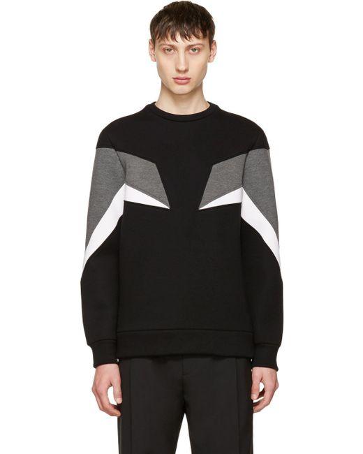 Neil Barrett | Black Tricolor Modernist Sweatshirt for Men | Lyst