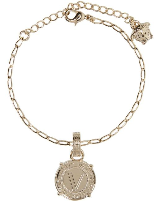 Versace | Metallic Gold Infinity Medallion Bracelet | Lyst