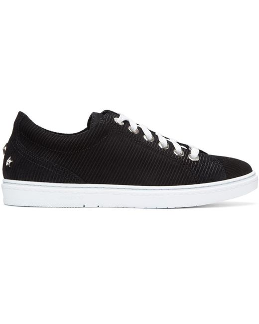 Jimmy Choo | Black Suede Cash Sneakers for Men | Lyst