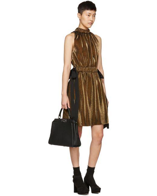 fendi sleeveless dress in metallic save 5 lyst. Black Bedroom Furniture Sets. Home Design Ideas