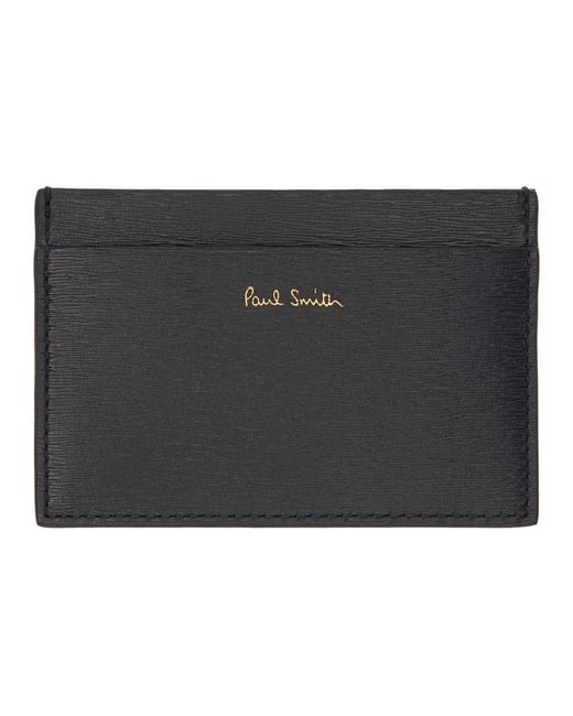 Paul Smith - Blue Navy And Burgundy Credit Card Holder - Lyst