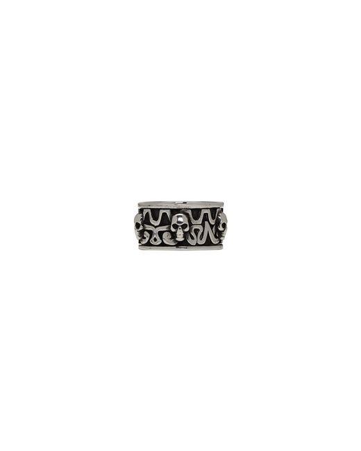 Alexander McQueen - Metallic Silver Viking Skull Ring for Men - Lyst