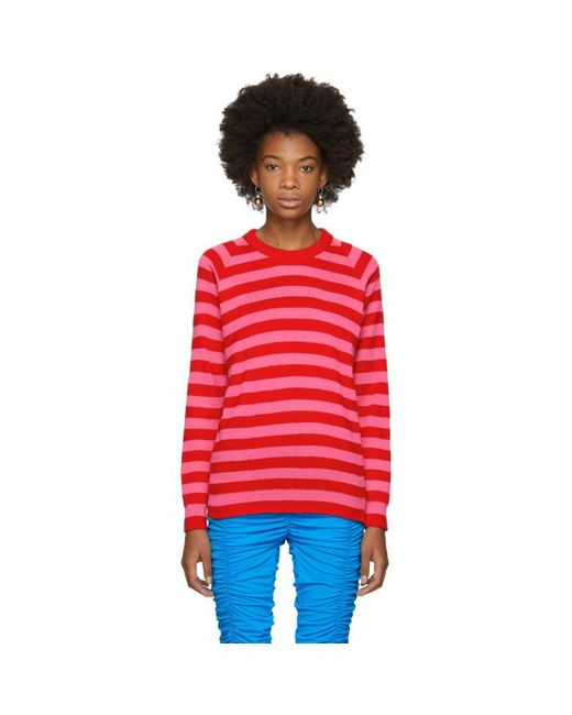 Molly Goddard | Pink & Red Jim Sweater | Lyst
