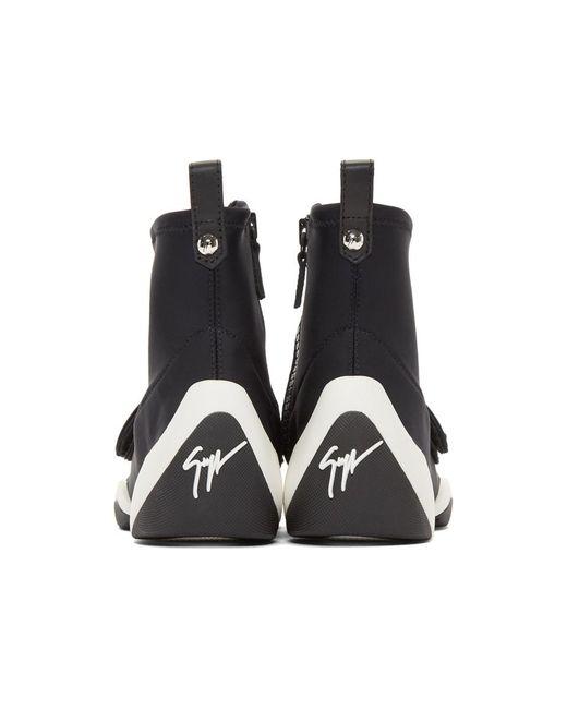 Dolce & Gabbana Black Carlito Stretch High-Top Sneakers HJkK1s