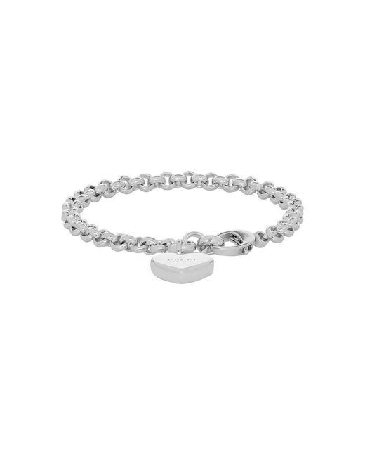 Gucci - Metallic Silver Heart Bracelet - Lyst