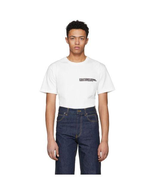 CALVIN KLEIN 205W39NYC - White Text Logo T-shirt for Men - Lyst