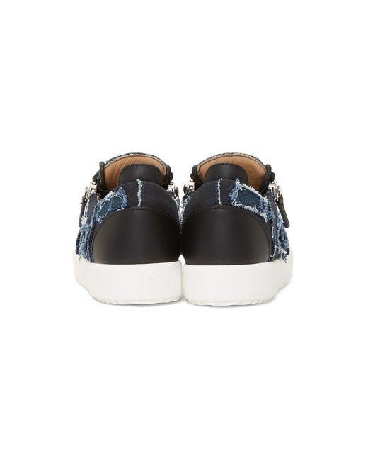 109ac27657627 ... Giuseppe Zanotti - Blue Denim Frankie Sneakers for Men - Lyst ...