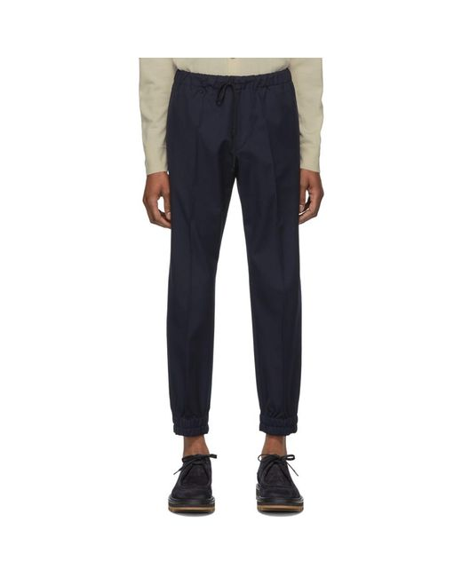 Dries Van Noten - Blue ネイビー Perkino トラウザーズ for Men - Lyst
