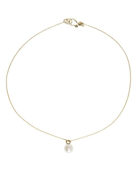 Sophie Bille Brahe | Metallic Gold Pearl Simple Necklace | Lyst