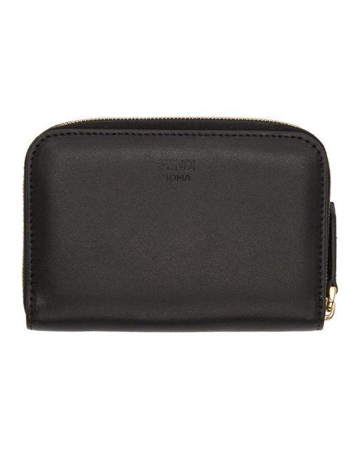 f2f13c719cd ... Fendi - Black Bag Bugs Zip Around Wallet - Lyst ...
