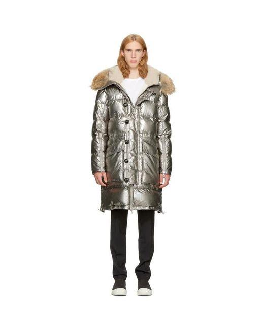 Moncler | Metallic Silver Down Inuit Jacket for Men | Lyst