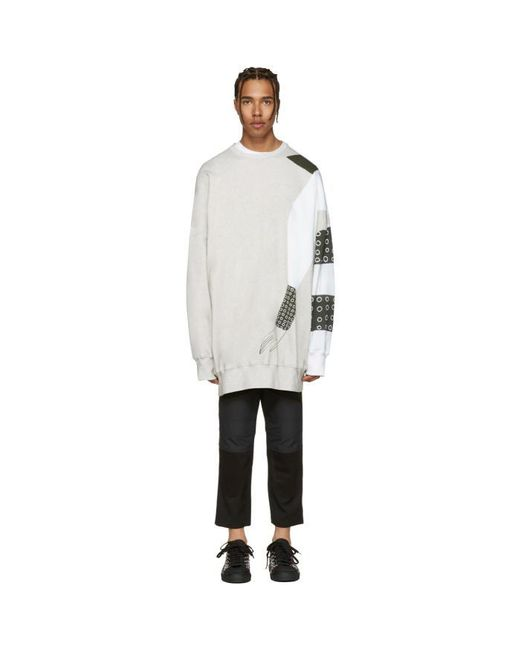 J.W. Anderson | Gray Ssense Exclusive Grey Kelly Beeman Edition Oversized Graphic Pullover for Men | Lyst
