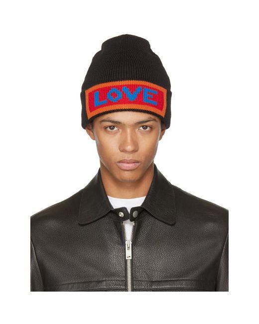Fendi - Black 'love' Beanie for Men - Lyst