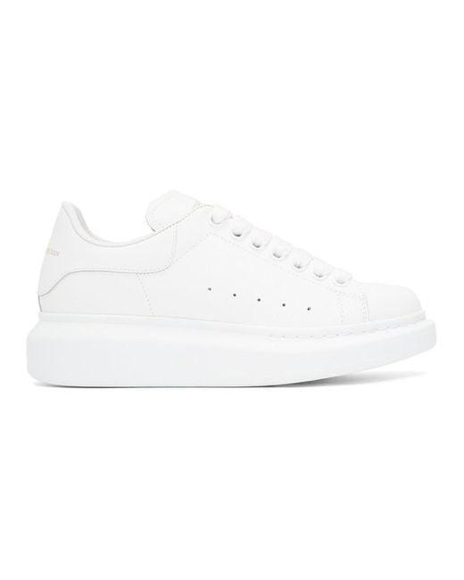 Alexander McQueen - White Oversized Sneakers - Lyst