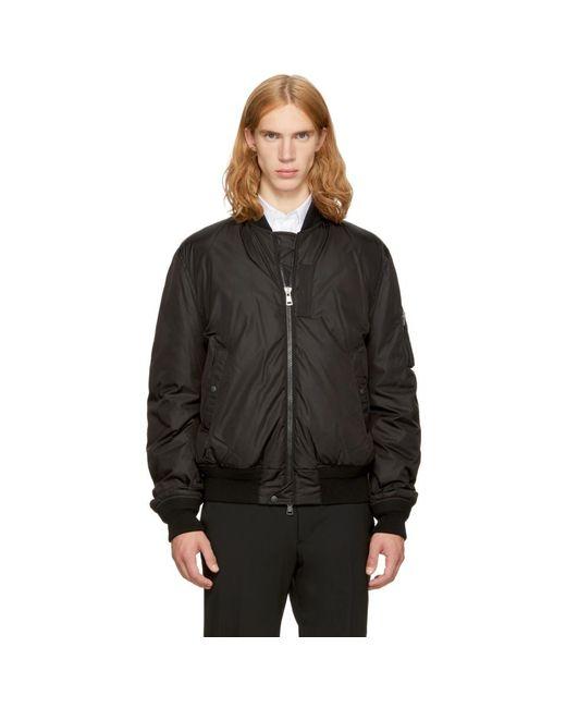 Moncler - Black Down Allix Bomber Jacket for Men - Lyst