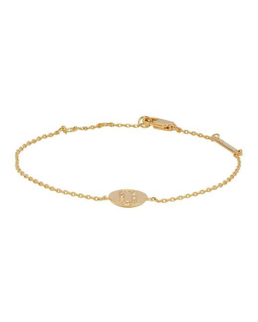 Marc Jacobs - Metallic Gold Double J Pave Bracelet - Lyst