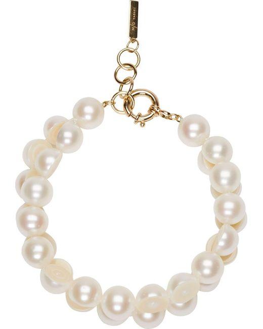 Melanie Georgacopoulos   White Sliced Pearl Tasaki Edition Bracelet   Lyst