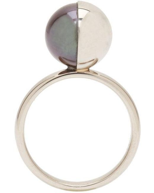 Melanie Georgacopoulos | White Gold Peacock Pearl Tasaki Edition Ring | Lyst