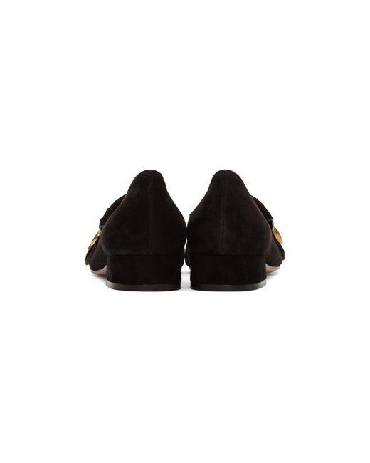 2677e29588f ... Gucci - Black GG Marmont Loafers - Lyst ...