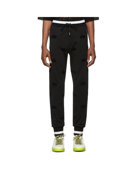 Dolce & Gabbana - Black ブラック クラウン ラウンジ パンツ for Men - Lyst