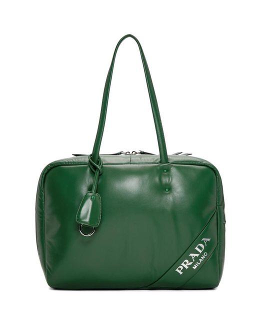 eec807e3c26 ... free shipping prada green large padded bag lyst 457b2 02c46