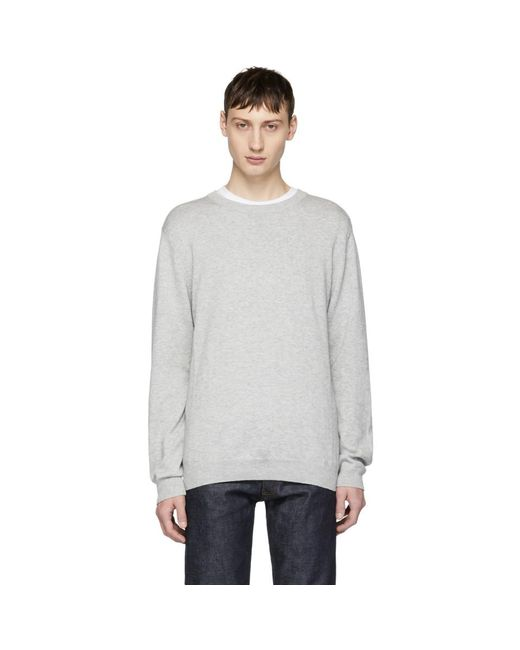 Saturdays NYC - Gray Grey Everyday Classic Sweater for Men - Lyst
